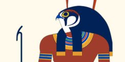 Egyptian god Horus and Jesus