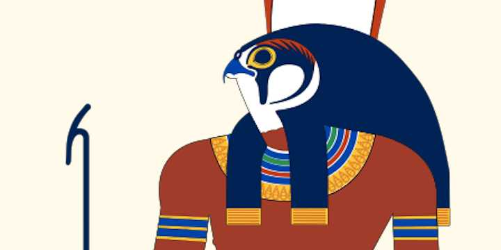 Egyptian god Horus and Jesus
